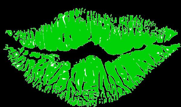 נשיקה שפתיים ירוקות