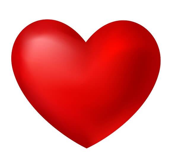 לב בתלת מימד 3D