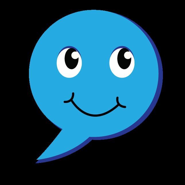 סמיילי כחול שמח