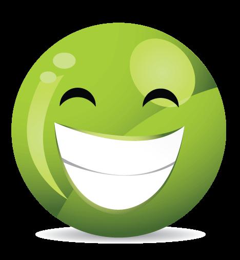 סמיילי ירוק חיוך רחב