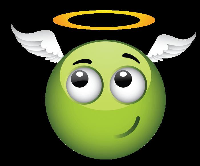 סמיילי ירוק מלאך
