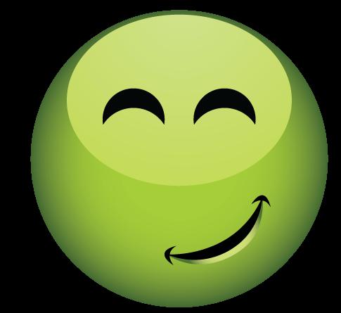 סמיילי ירוק מרוצה
