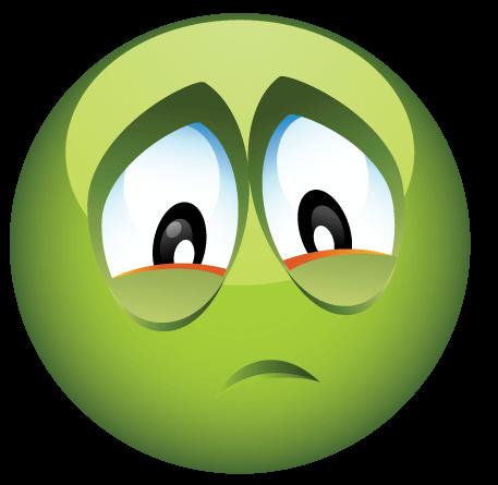 סמיילי ירוק עצוב