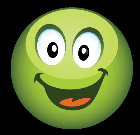 סמיילי ירוק חמוד מחייך