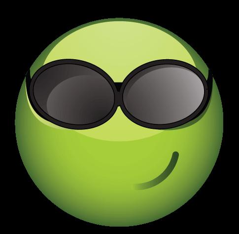 סמיילי ירוק משקפי שמש