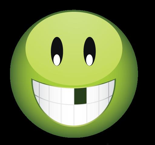 סמיילי ירוק בלי שן