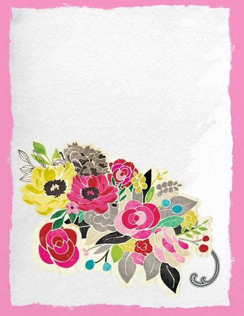 כרטיס עם פרחים