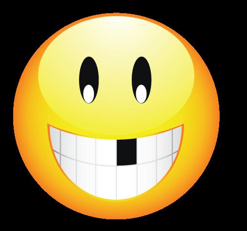 סמיילי מצחיק חיוך בלי שן