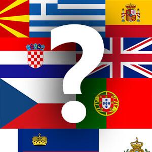 זיהוי דגלים - אירופה