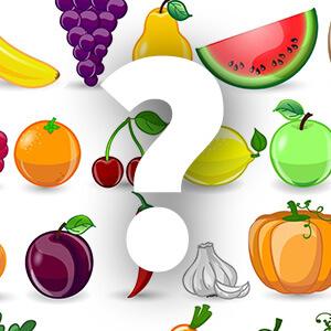 משחק ללימוד פירות וירקות