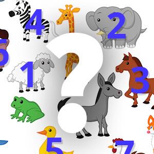 משחק להכרת המספרים בעזרת חיות