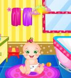 עיצוב חדר שירותים לתינוק הוא משחק בו את צריכה לעצב שירותים בבית לתינוק, את מחליטה מה להוסיף ובאיזה סגנון.