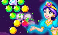 משחק באבלס עם יהלומים , מתאים למחשב וגם לפלאפון סלולרי עם מסך מגע , שחקו ועברו שלבים