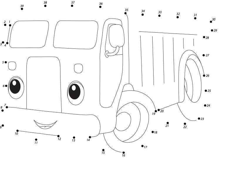 חיבור נקודות משאית