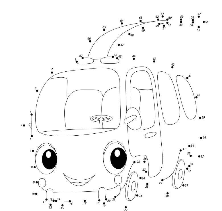 חיבור נקודות מכונית