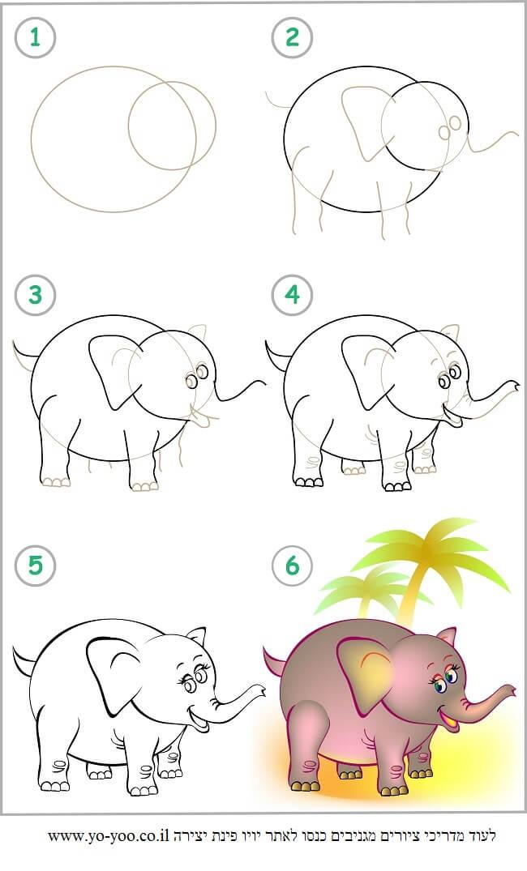 לצייר פיל