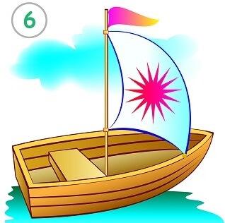 לצייר ספינה