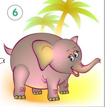 לצייר פיל בשלבים