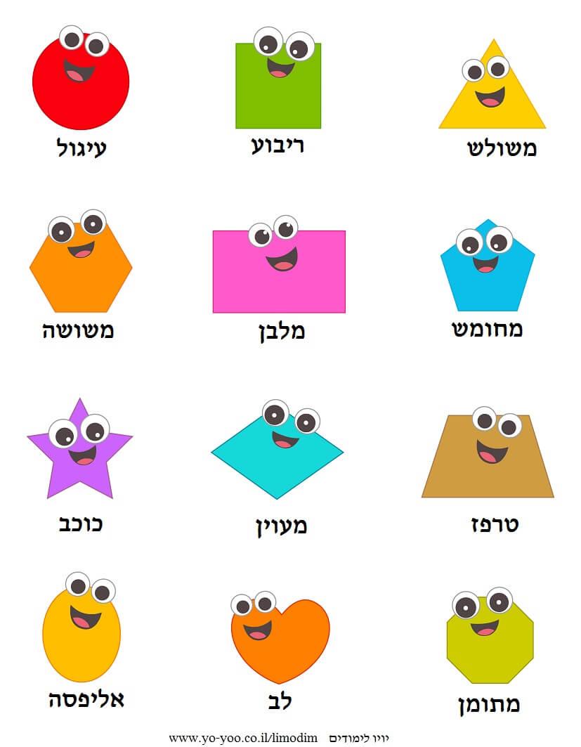 לימוד צורות בעברית
