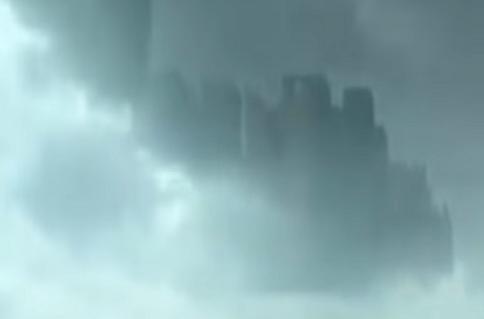 עיר מסתורית הופיעה בעננים מעל סין