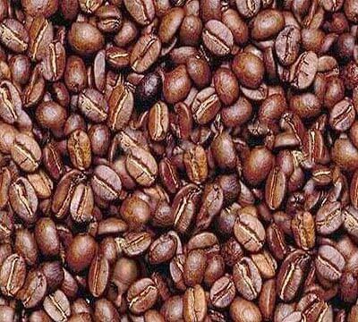 פרצוף בפולי קפה