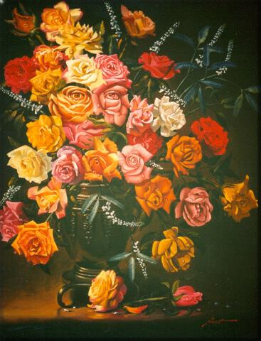 פרצוף בפרחים