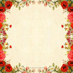 מסגרת פרחים אדומים