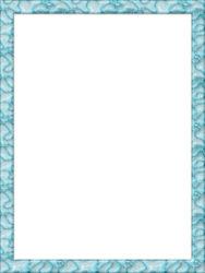 מסגרת כחולה ים