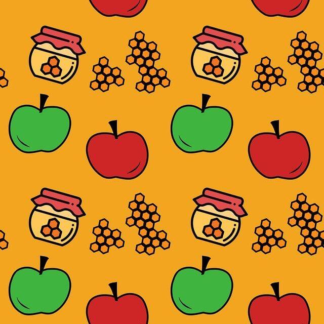 רקע תפוח בדבש