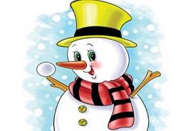 איך לצייר איש שלג